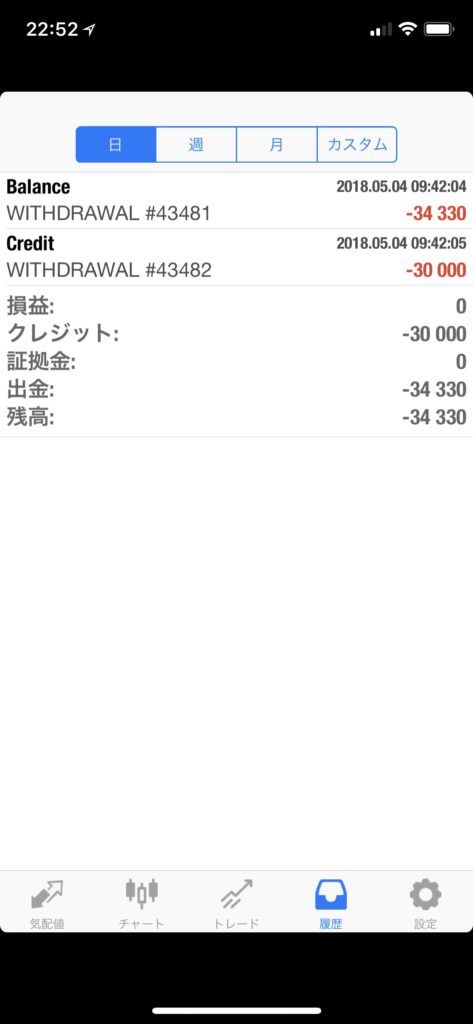 is6com出金履歴のスクショ